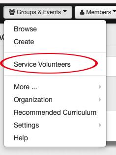 Groups to Service Volunteers